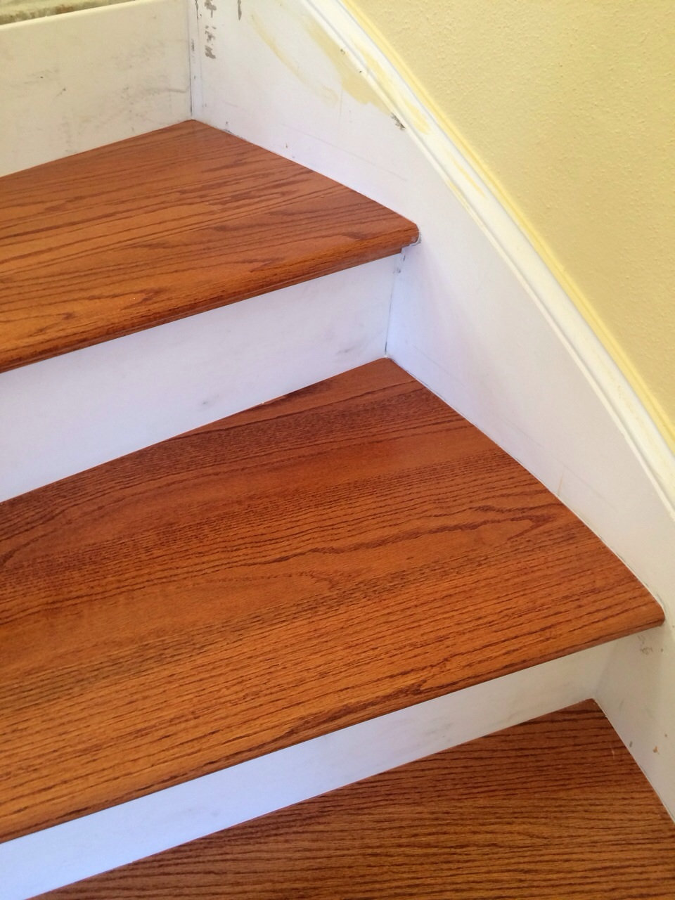 Solid Red Oak Stair Treads  After Install