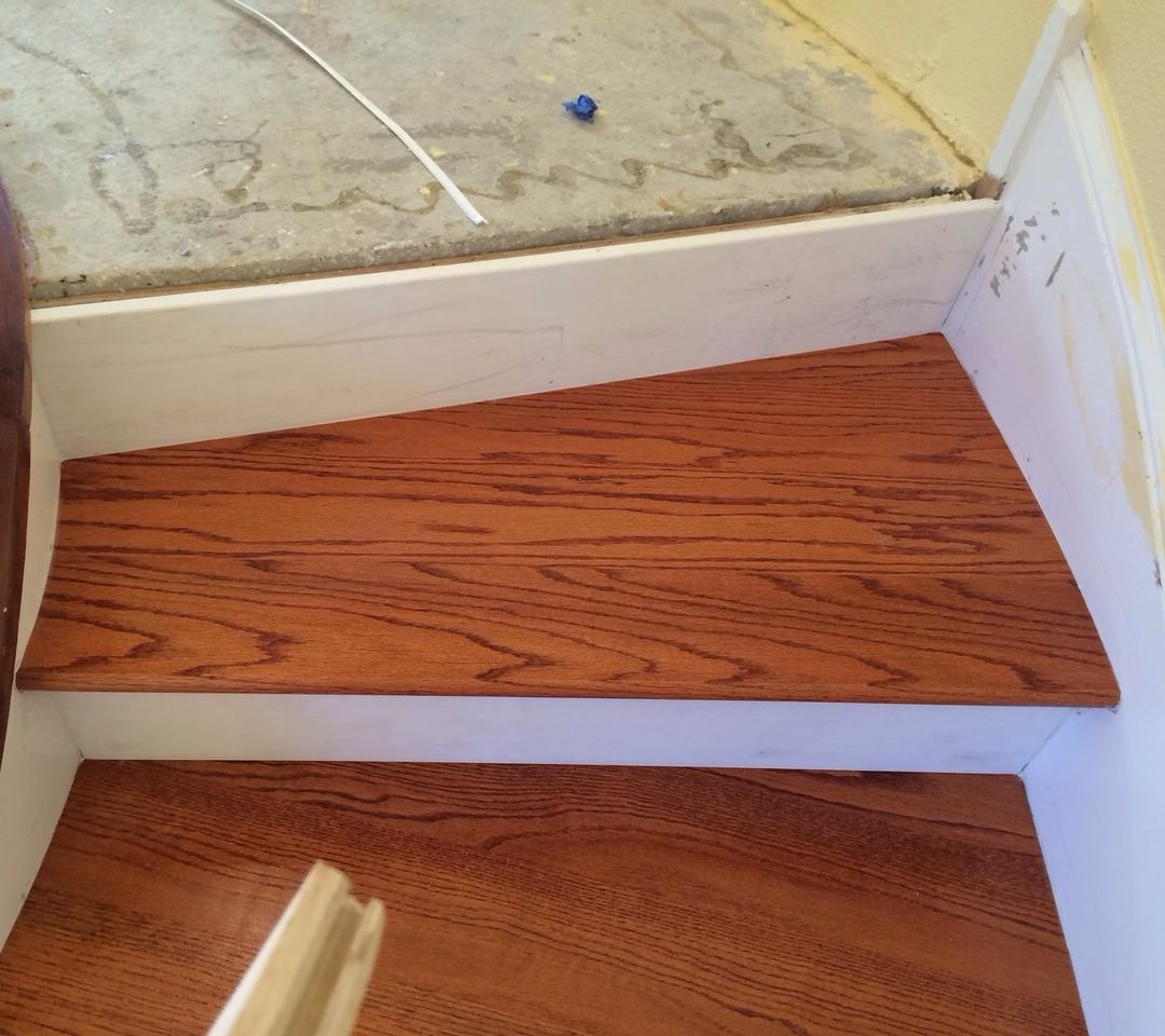 Solid Red Oak Stair Treads